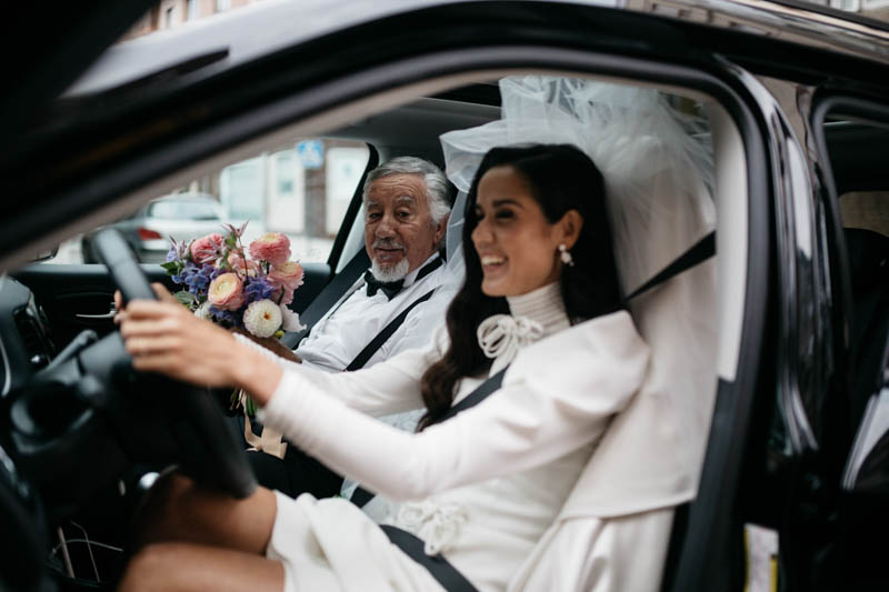 boda pazo Santa Cruz mondoi galicia novia vestido bouret