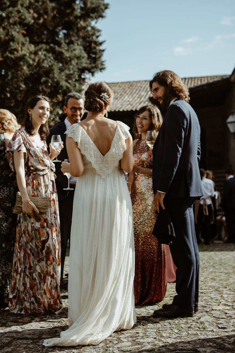boda pazo tousa nigran vestido novia sencillo arca barcelona