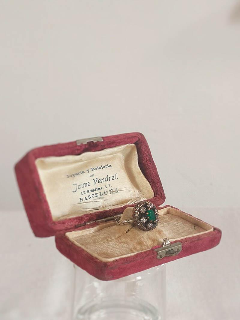 anillo vintage novia pedida boda arca barcelona