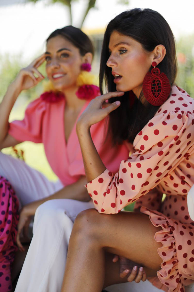 barey vestido invitada boda fiesta largo blog a todo confetti lunares vichy