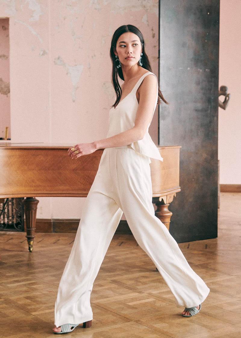 sezane vestido novia sencillo informal boho bohemio blog bodas a todo confetti zapatos traje