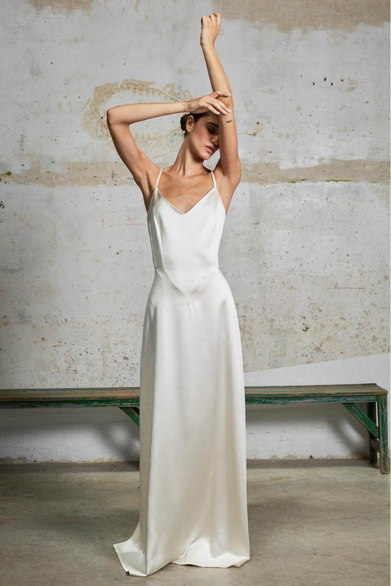 vestido novia sencillo boho ines martin alcalde madrid blog bodas a todo confetti