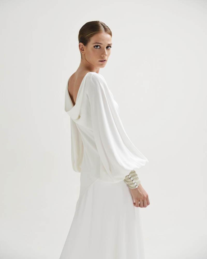 inunez vestido novia sencillo boda coleccion madrid