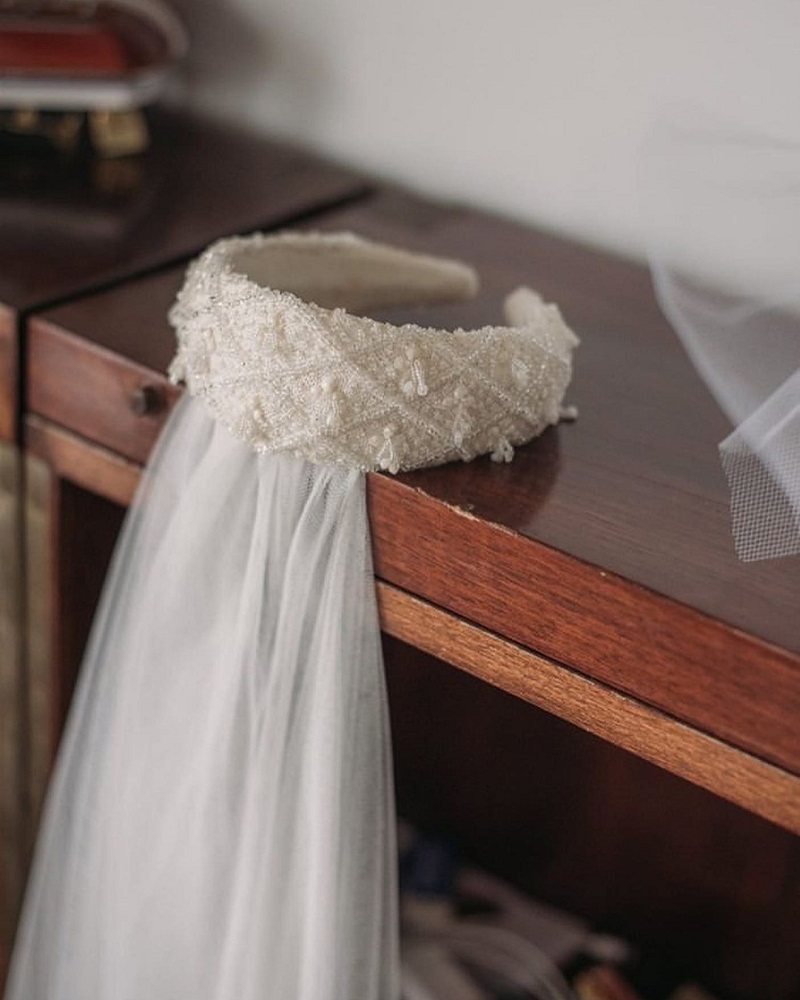 diadema perlas novia boda blog