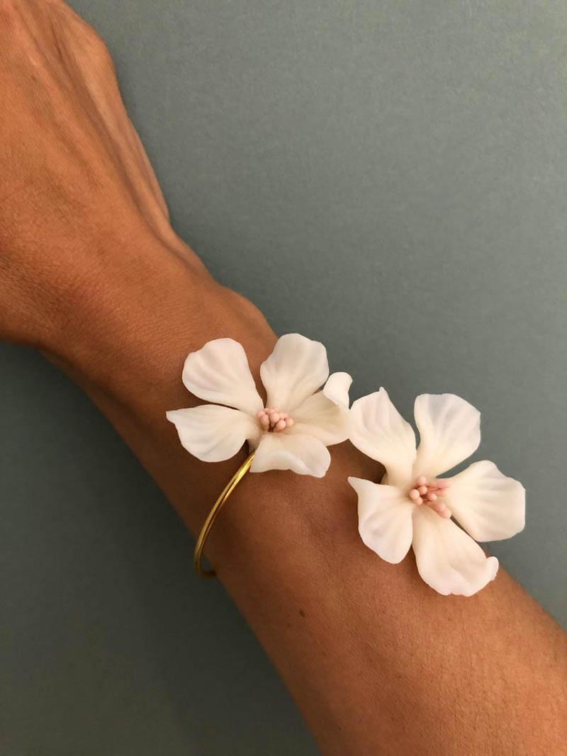le toquet pulsera pendientes flor
