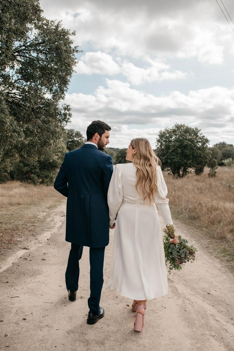 vestido novia corto boda informal madrid coronavirus covid