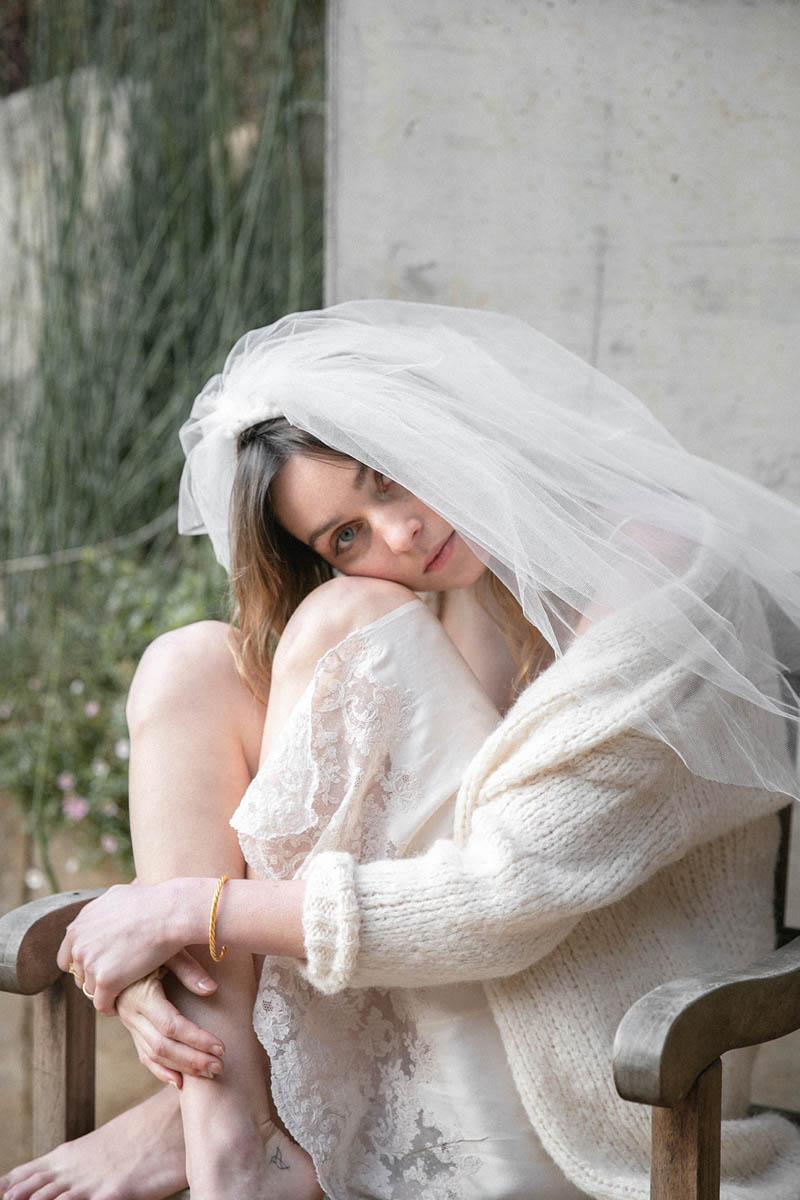 vestido novia sencillo antiguo encaje larca barcelona blog bodas a todo confetti