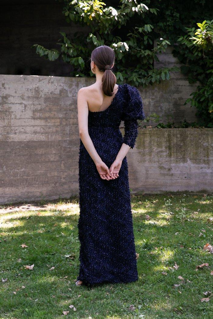 vestido invitada boda otoño invierno largo fiesta manga larga traje
