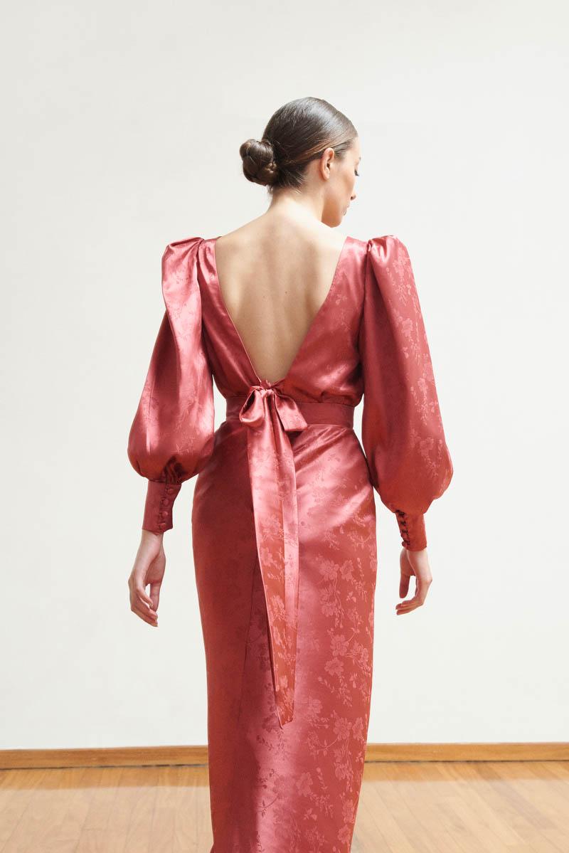 vestidos de fiesta para bodas invitadas otoño bouret largo